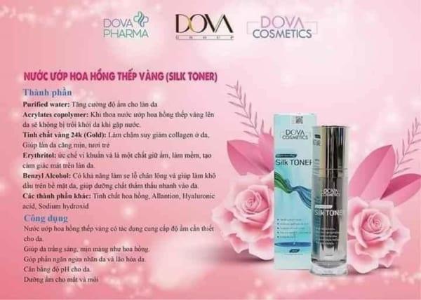 Toner ủ thiếc vàng Dova (Silk Toner)