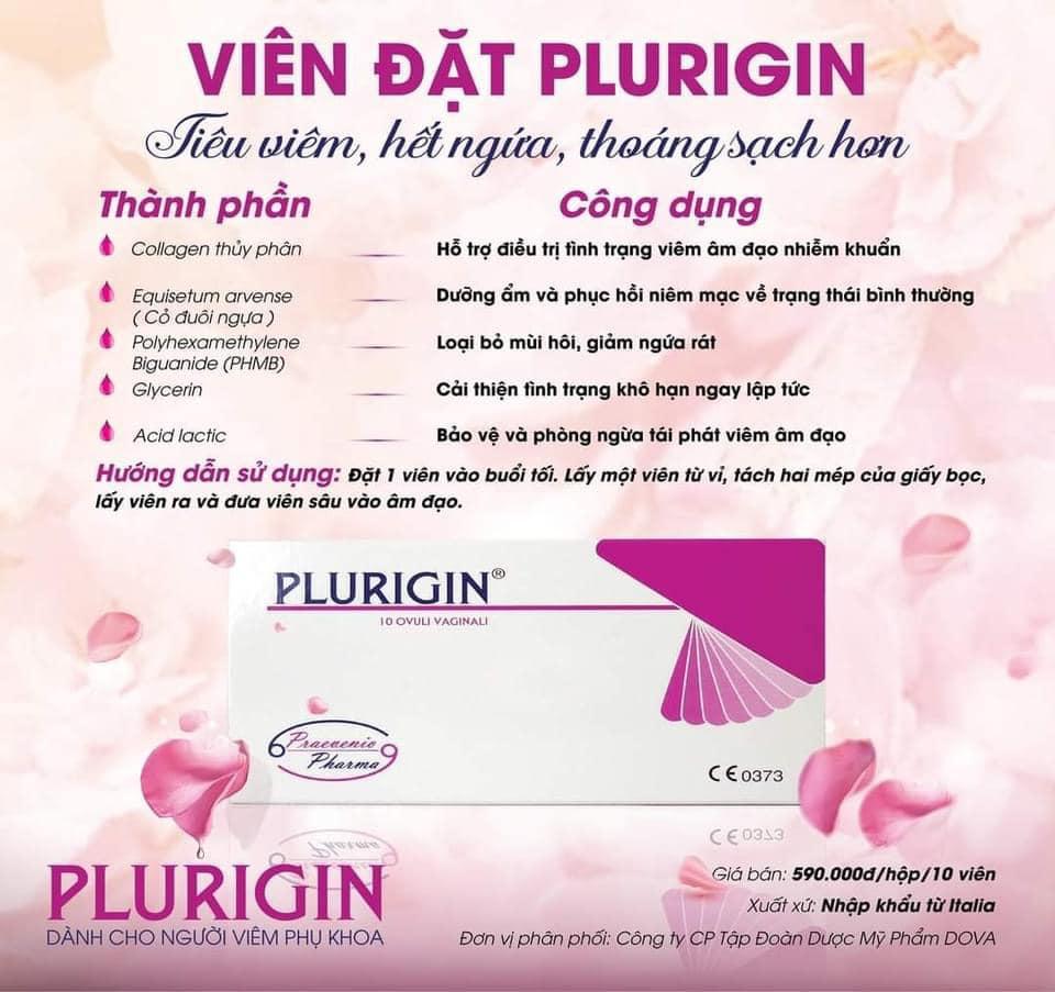 Viên đặt Plurigin có tác dụng gì?